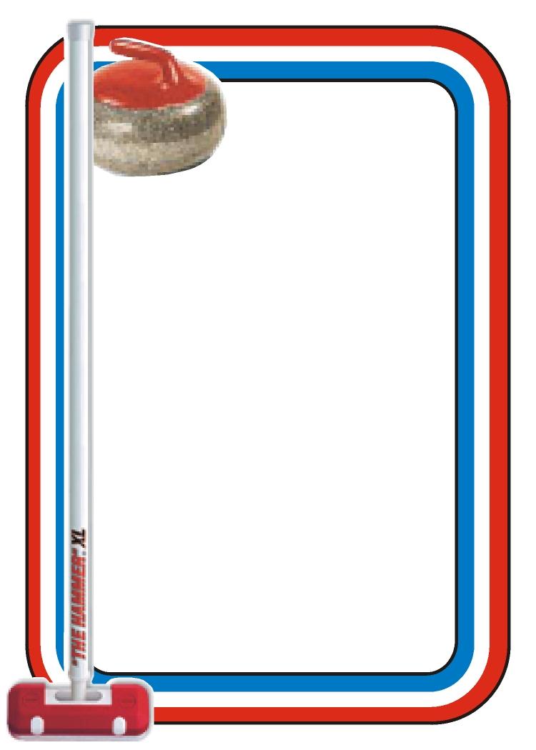 Card & Border Samples - Curling